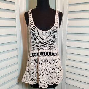 Kaktus Crochet Cotton Tunic or Tank L/Xl, EUC